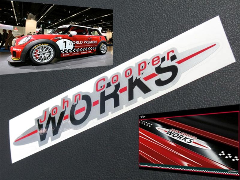 Pcs John Cooper Works Sticker JCW Mini s R53 R56 BMW CD24