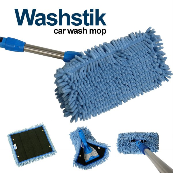 Details About Car Truck Rv Boat Washstik Microfiber Mop Wash Stik Kit Telescopic Pole W Cover