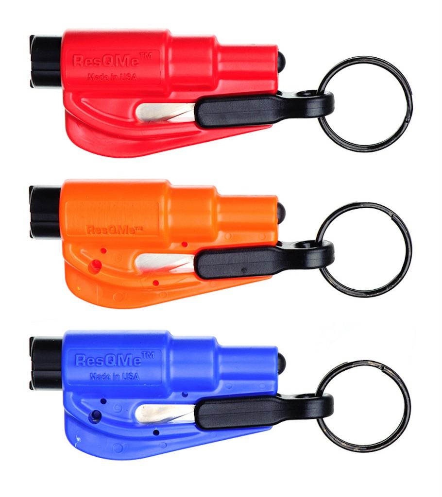 3 pack new resqme escape tools seatbelt cutter glass breaker red orange blue 807360863104 ebay. Black Bedroom Furniture Sets. Home Design Ideas