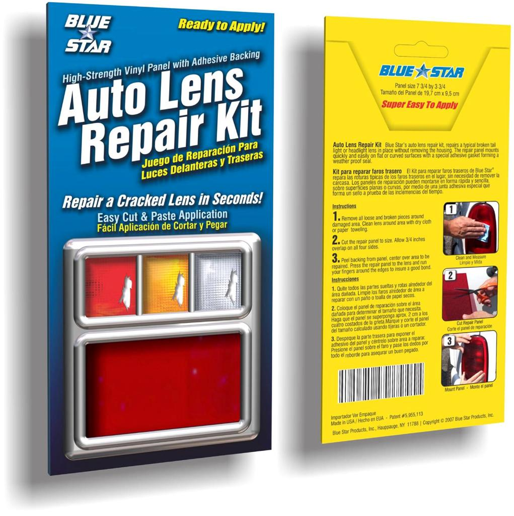Red Auto Lens Repair Kit Quick Fix Cracked Broken Tail