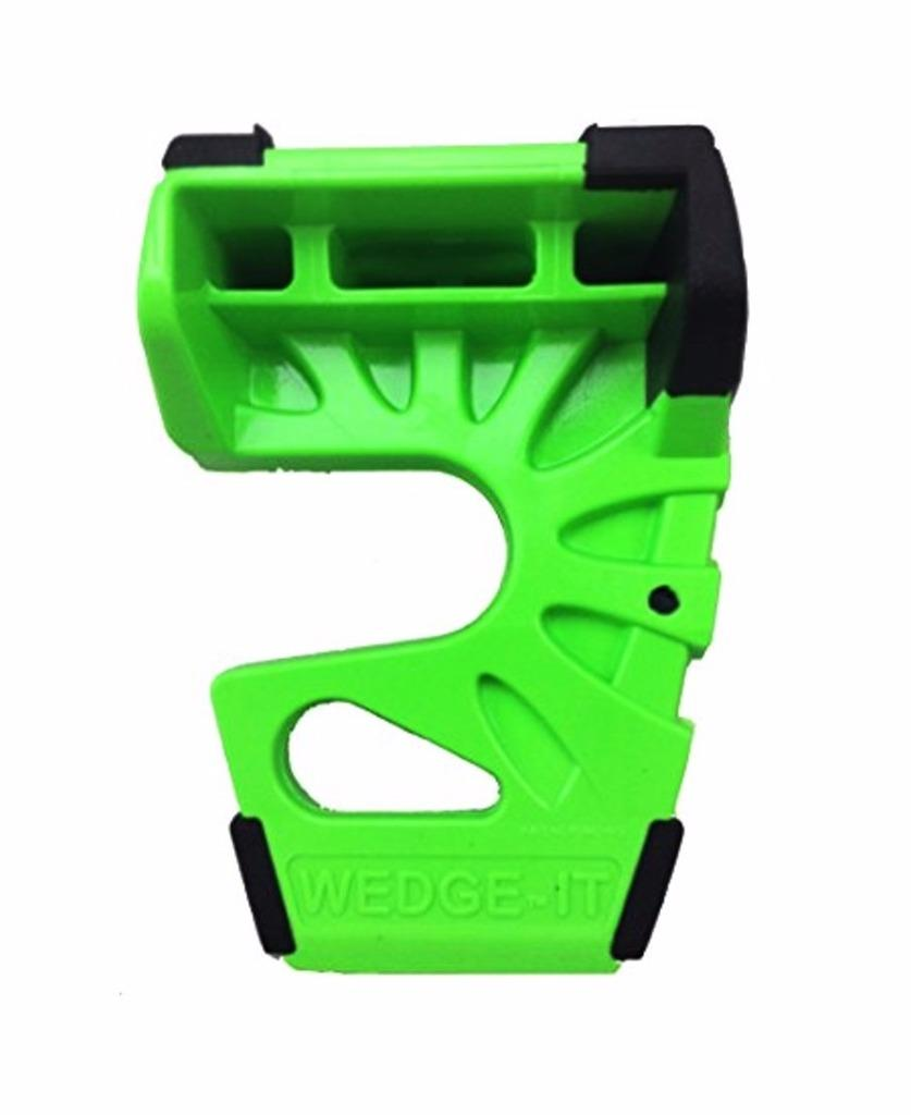 Details about Wedge-It 3 in 1 Ultimate Door Stop Heavy Duty Lexan Plastic  Rubber Shim (GREEN)