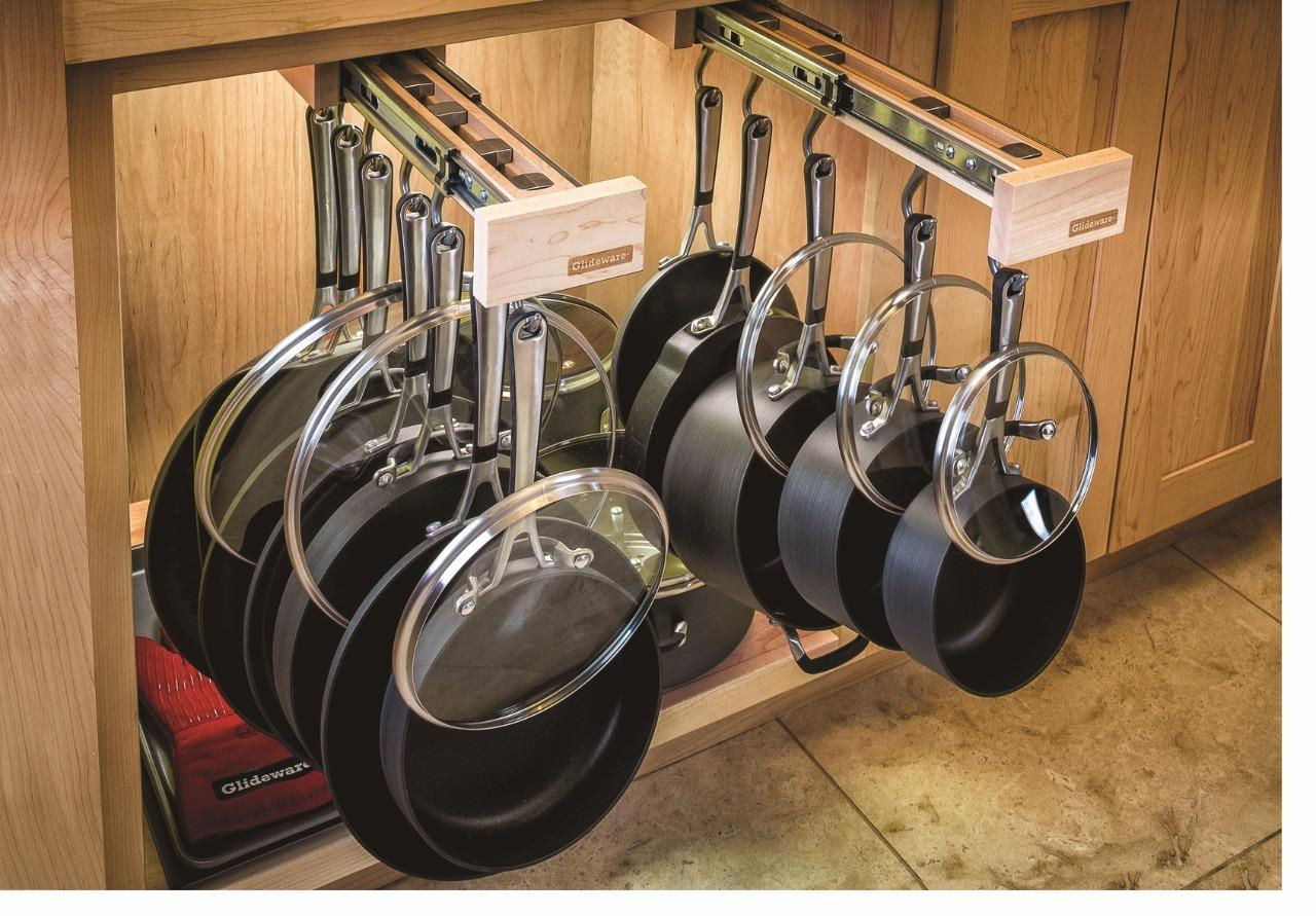 Dual-ing Glideware 14 Hook Pull-out Cabinet Organizer for ...