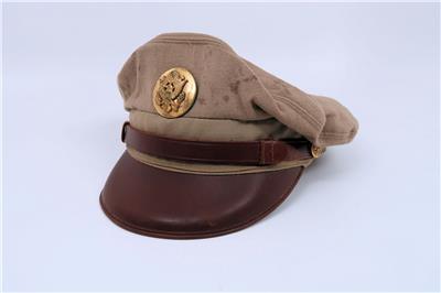 252ef56e070 WWII US enlisted visor cap uniform hat Army Air Force crusher Bancroft  Flighter