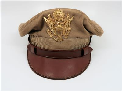 e02cdbaf28b WW2 US Officer visor cap uniform jacket hat combat Air Force corp Lewis  crusher