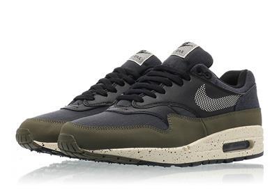 Nike Air Max 1 SE NYLON DENIM OLIVE CREAM GREEN BLACK BLUE AO1021 200 sz 13 eBay  eBay