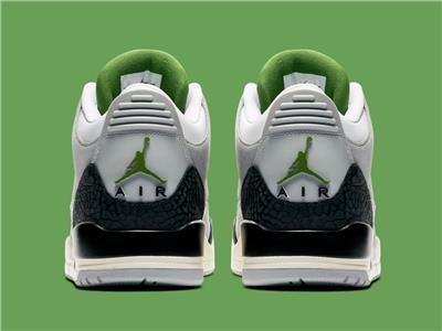 grey and green jordan 3