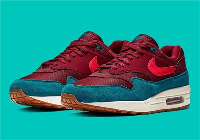 Details about NIKE AIR MAX 1 AH8145 601 TEAM RED (MAROON)RED ORBITGREEN ABYSS(TEAL)GUM SOLE