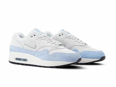 Details about W NIKE AIR MAX 1 PREMIUM SC JEWEL MINI SWOOSH AA0512 004 PURE PLATINUMBLUE TINT