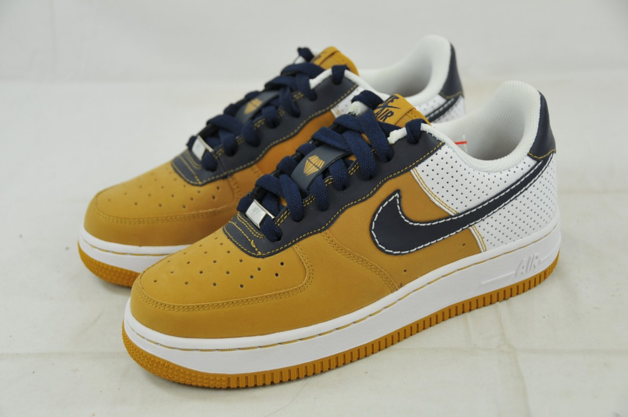 nike air force 1 gs 314192 741 wheat obsidian blue white. Black Bedroom Furniture Sets. Home Design Ideas