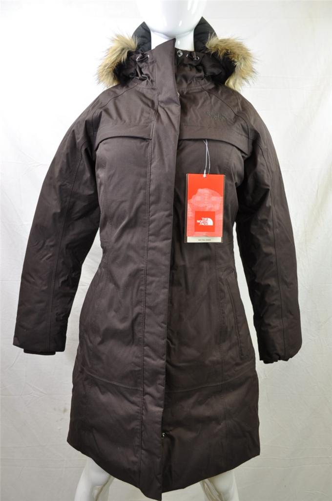the north face womens arctic brunette brown faux fur hood. Black Bedroom Furniture Sets. Home Design Ideas