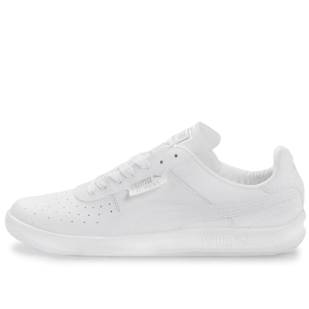 PUMA G. VILAS L2 352758 01 WHITE METALLIC SILVER LEATHER LOW PROFILE ... 277ae2119