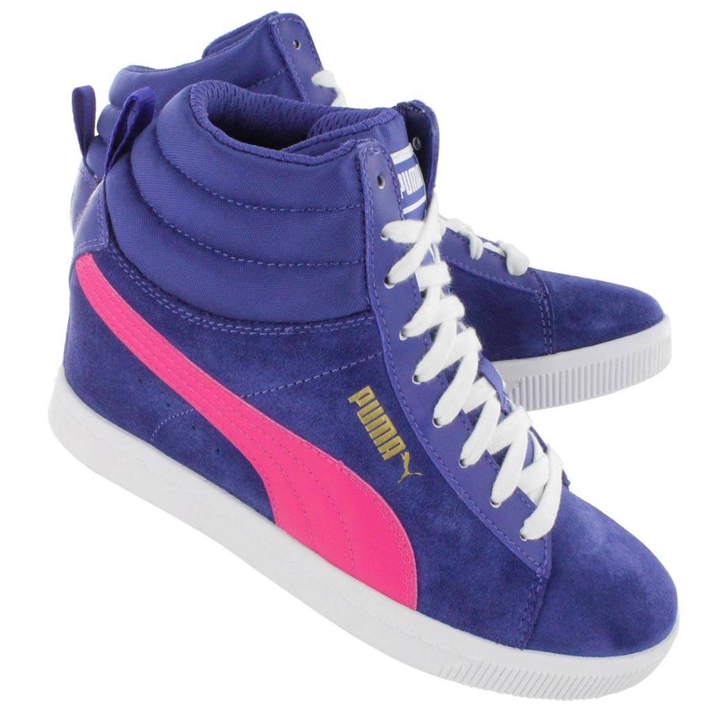 puma suede kids shoes liberty blue white purple pumas 1ac15b426