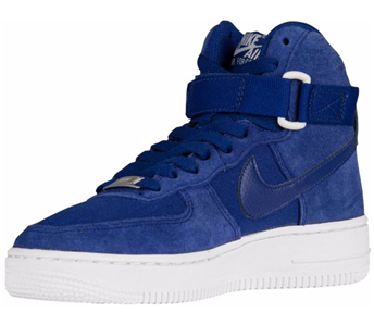 Details about NIKE AIR FORCE 1 HIGH (GS) 653998 400 DEEP ROYAL BLUESAIL WHITE SUEDECANVAS