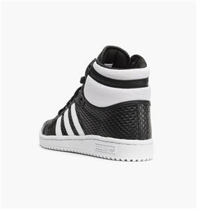 ADIDAS TOP TEN HI WOMEN'S SNAKE PACK B35338 CORE BLACK/FOOTWEAR WHITE -  LEATHER | eBay