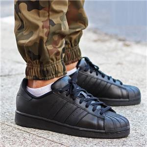 reputable site 95323 a70a0 Details about ADIDAS SUPERSTAR FOUNDATION SHELLTOES AF5666 CORE BLACK -  TRIPLE ALL BLACK