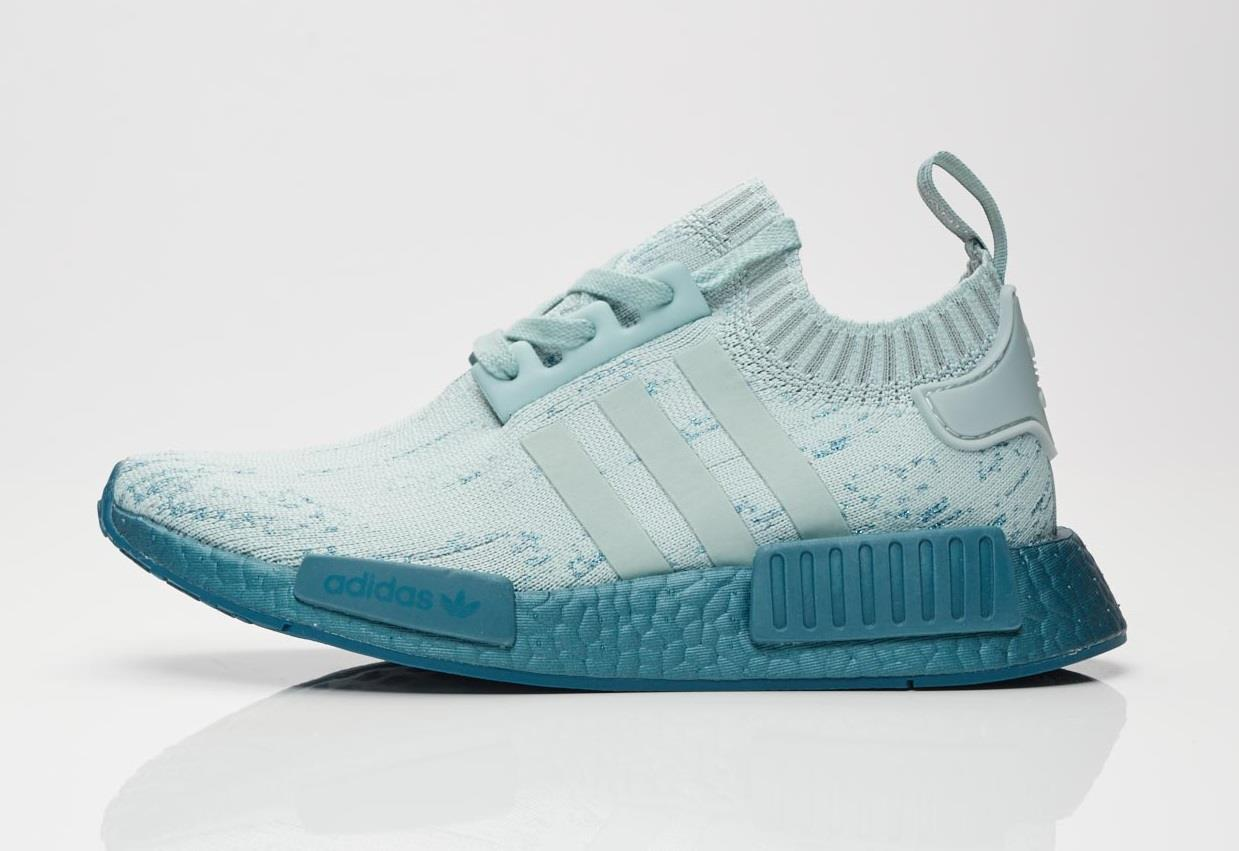 adidas NMD R1 Primeknit Sea Crystal Womens Cg3601 Tactile Green Shoes Size 7 998691536454