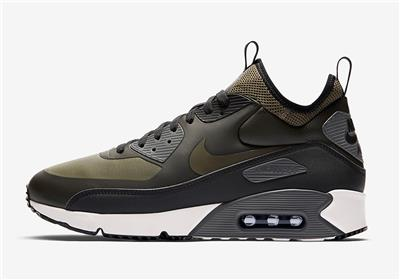 lowest price 9cd2b a36ea Details about NIKE AIR MAX 90 ULTRA MID WINTER 924458 300 SEQUOIA OLIVE  GREEN BLACK WHITE GREY