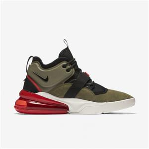 Details about NIKE AIR FORCE 270 AH6772 200 MEDIUM OLIVE GREENBLACKCHALLENGE REDSAIL WHITE
