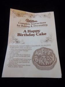 Birthday Cake Pan Jello Mold 1980 Crazy Bubble Letters Kids Vintage