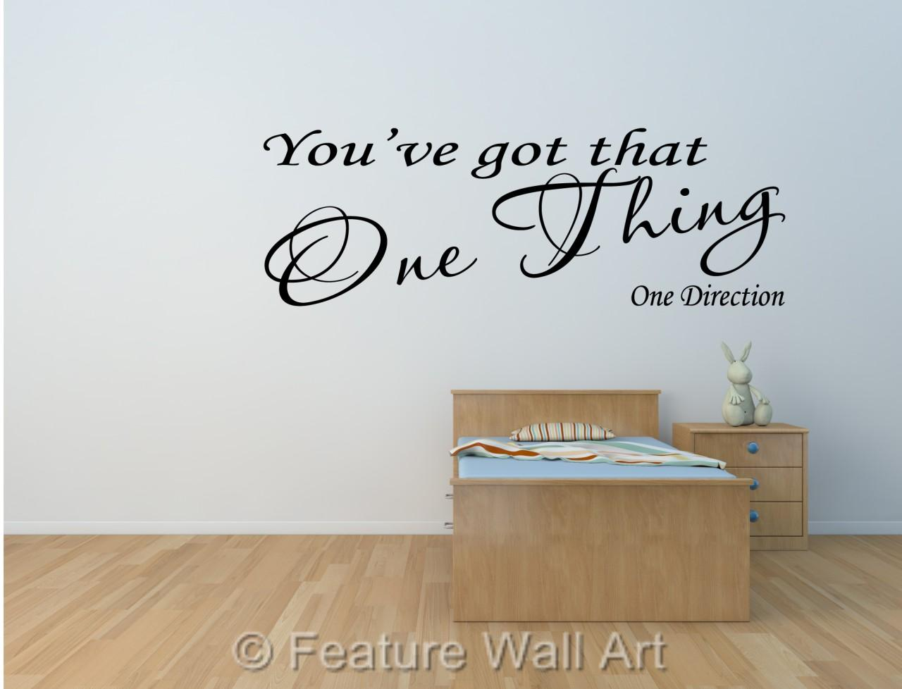 one direction you 39 ve got that one thing song lyrics wall art sticker wa0172 ebay. Black Bedroom Furniture Sets. Home Design Ideas