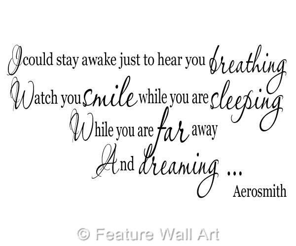 Aerosmith Breathing Quote Vinyl Wall Art Sticker Decal: Aerosmith Breathing Song Lyrics Wall Art Vinyl Decal
