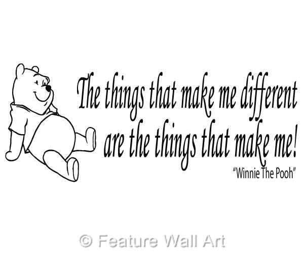 Winnie The Pooh Quote Art: WINNIE THE POOH Bear Quote, Wall Art, Boy / Girl Bedroom