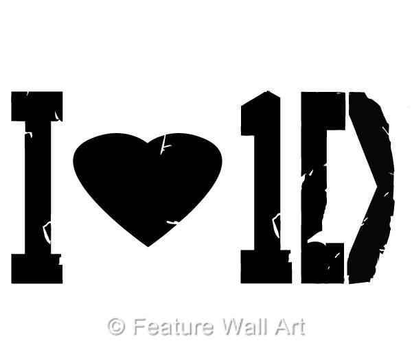 I Love One Direction Logo I Love One Direction L...