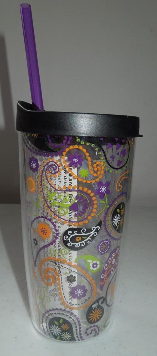Halloween DOUBLE WALL STRAW CUP Travel Mug Tumbler Hot Cold Drinks Insulated | eBay