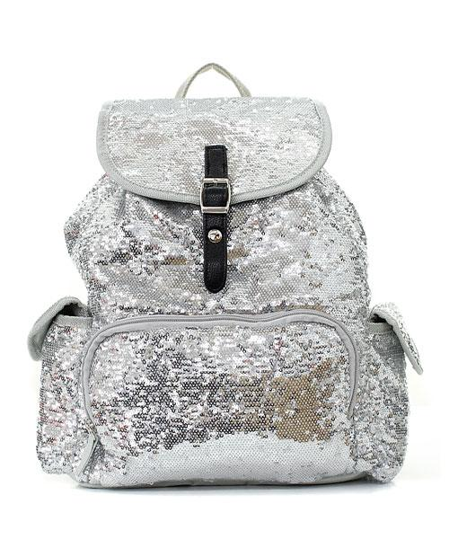 14 034 Glitter Sequin Backpack Sparkle Bling Bookbag