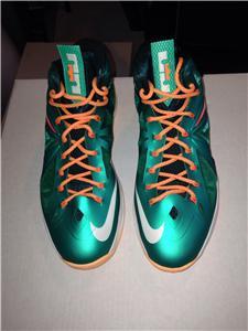 NIKE LEBRON 10 X DOLPHIN WORN WITH BOX AND PAPER 541100-302 ALL STAR    Nike Lebron X Cork Box