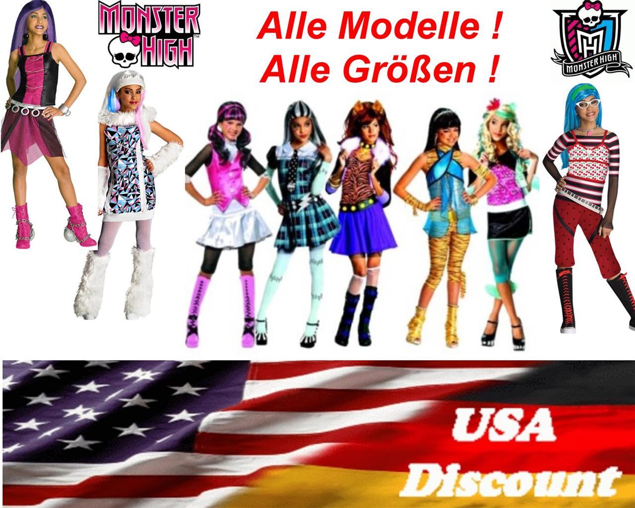 Neu Rubies Monster High Kinder Kostüme Alle Modelle Alle Größen