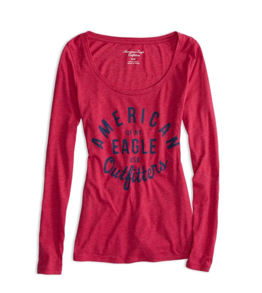 American Eagle Outfitters AEO Long Sleeve T-Shirt Tee | eBay