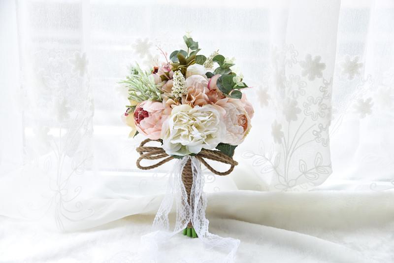 Mazzo Di Fiori Nozze.Fiori Matrimonio Sposa Bouquet Esterno Rustico Spilla Handmade