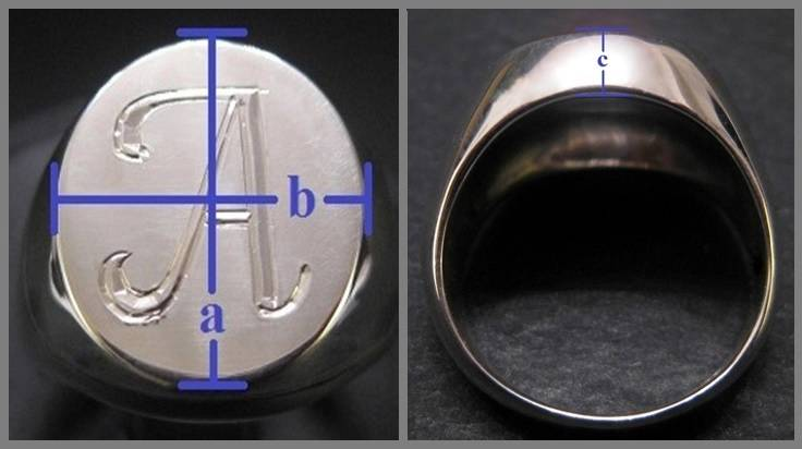 Signet Ring Initial Custom Hand Engraved Sterling Silver