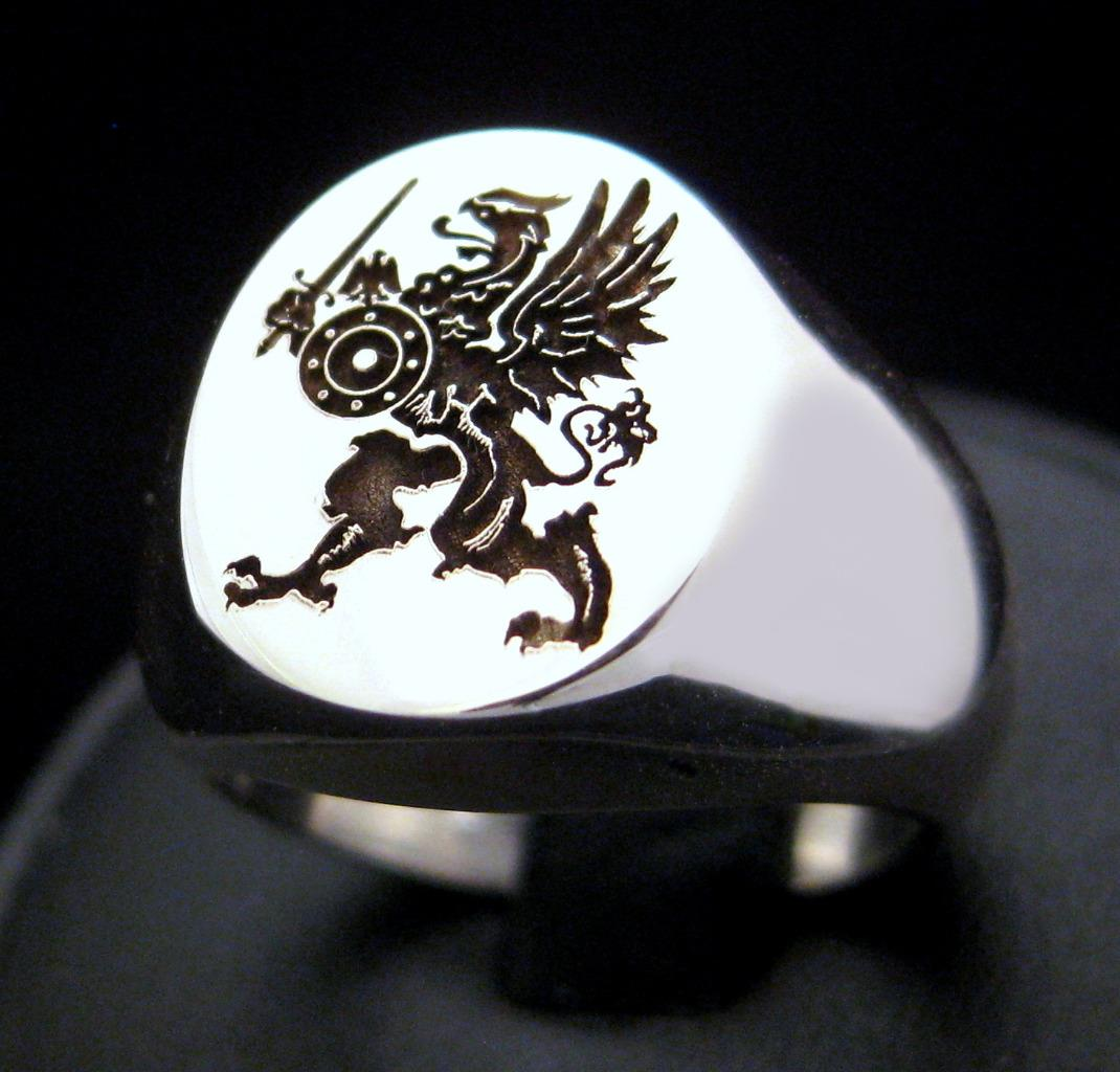 Silver Griffin Ring