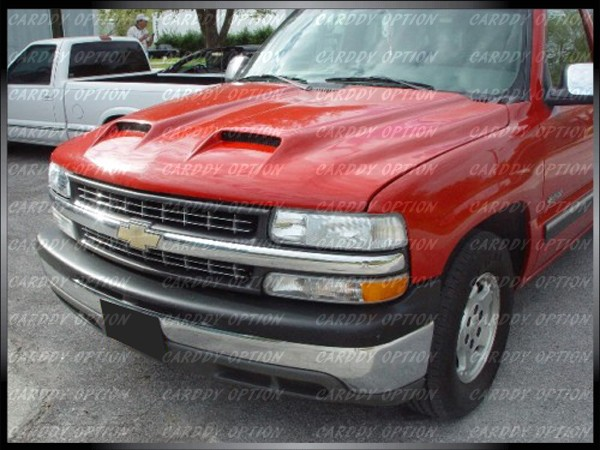 98 99 00 01 02 Chevrolet Silverado Functional RAM Air Fiberglass Hood