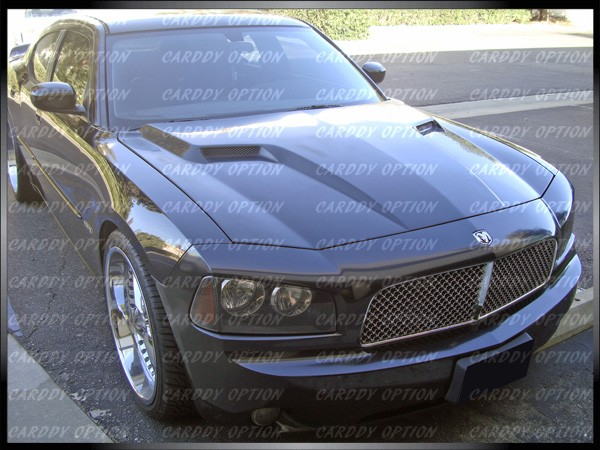 Dodge Charger AIT CLS Style Functional Ram Air Fiberglass Hood