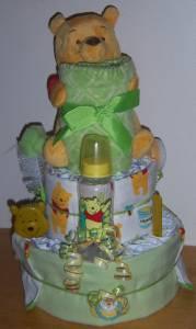 Baby Shower 3 Tier Winnie The Pooh Diaper Cake