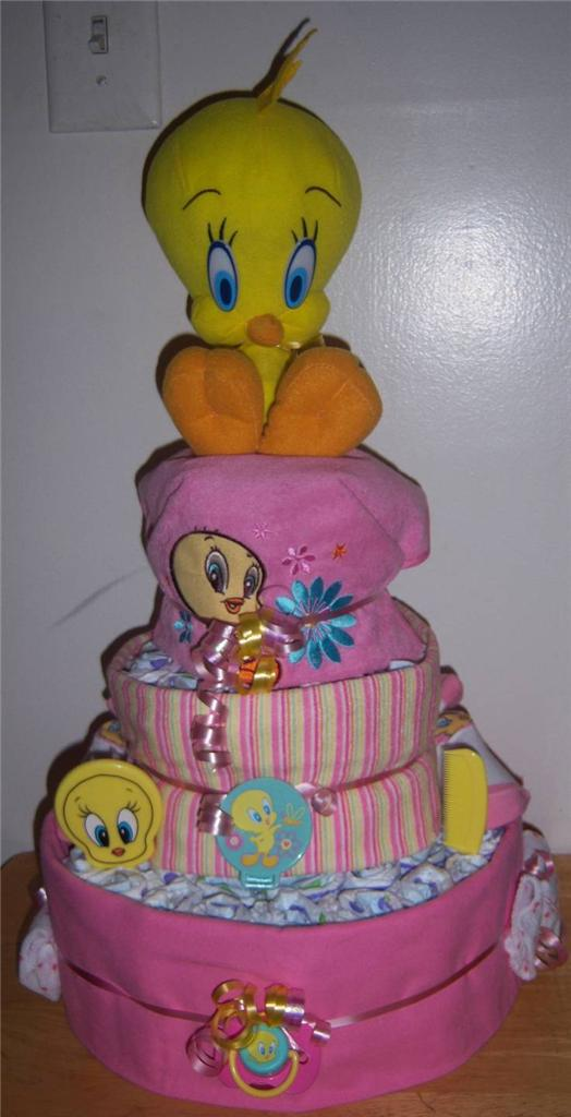 Tweet Bird Baby Shower Cake
