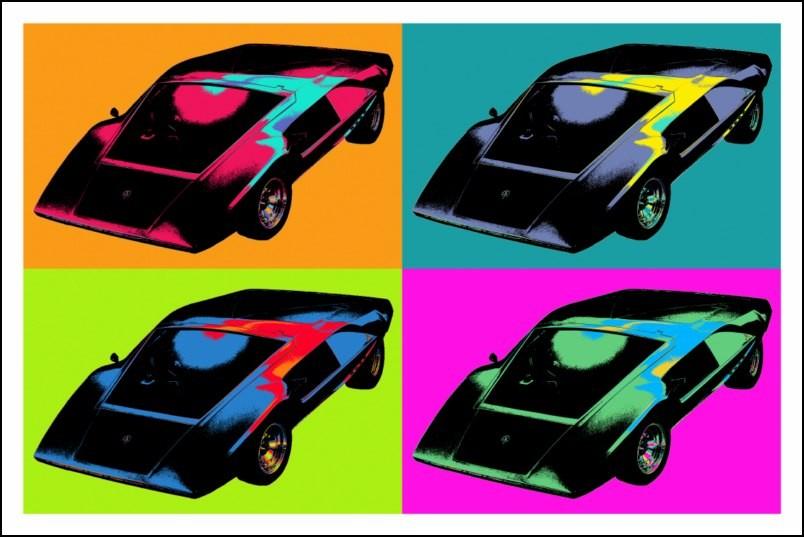 poster affiche pop art voiture r tro style warhol neuf ebay. Black Bedroom Furniture Sets. Home Design Ideas