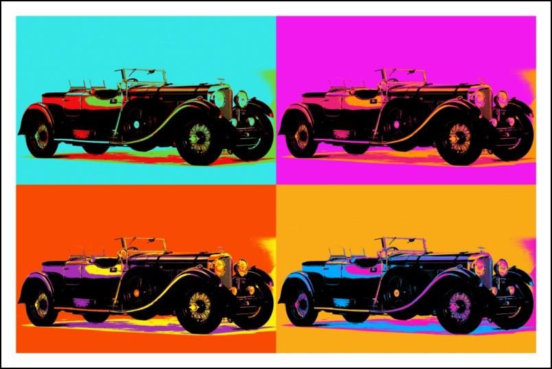 poster affiche pop art voiture bentley ancienne style. Black Bedroom Furniture Sets. Home Design Ideas
