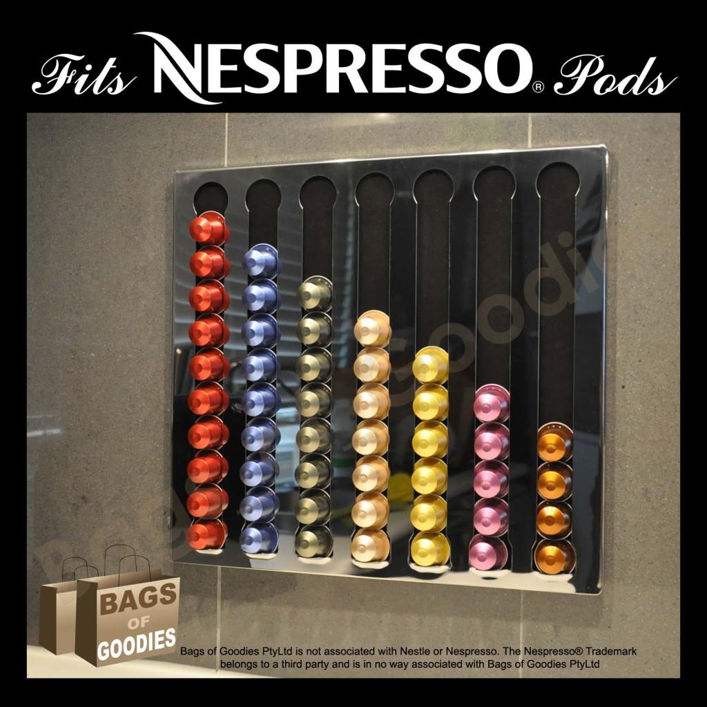 New Nespresso 174 Coffee Capsules Pod Wall Holder Dispenser