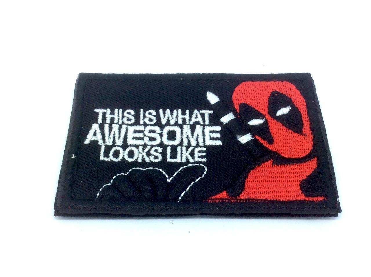 This Is What Awesome Looks Like Deadpool Embroidered Cosplay Paintball Patch by Ebay Seller