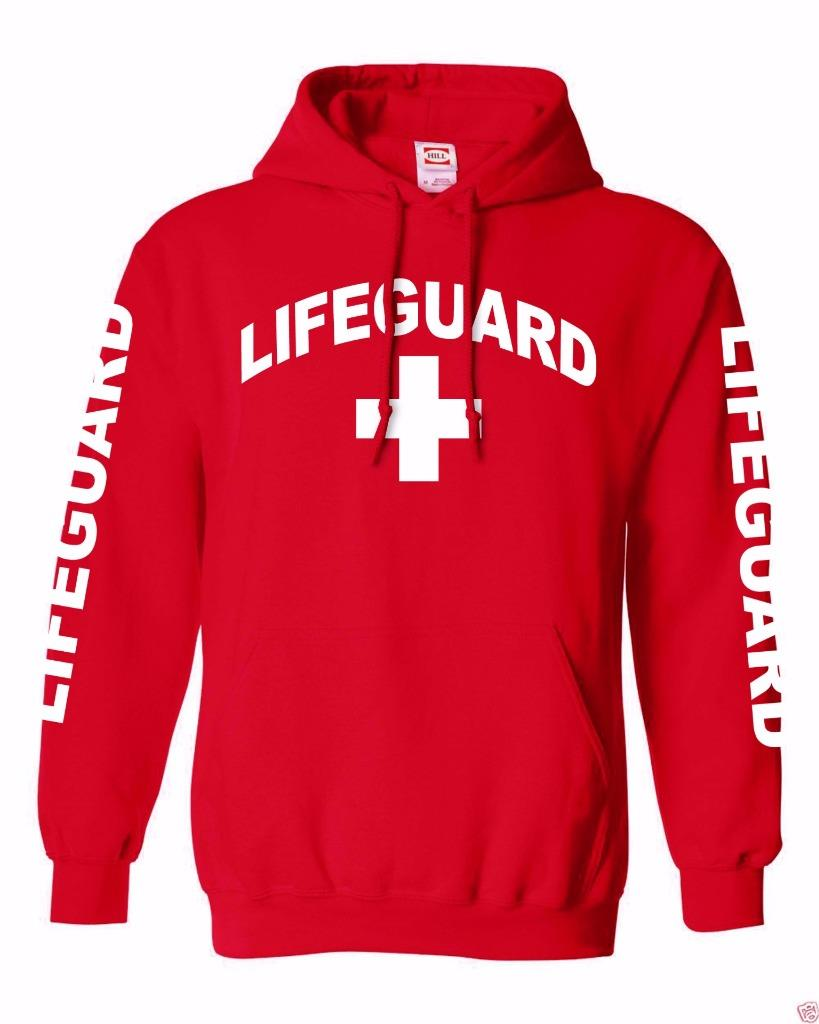 dd48e69d2e0 Amazon.com  Lifeguard Hoodie Life Guard Sweatshirt Red  Clothing. HOODIE. Lifeguard  Hoodie in Red (Unisex Sizing) - (808)661-7828 Maui s