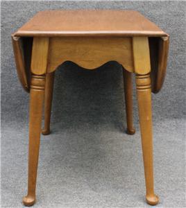 Ethan Allen Nutmeg Maple Dropleaf End Table Ebay