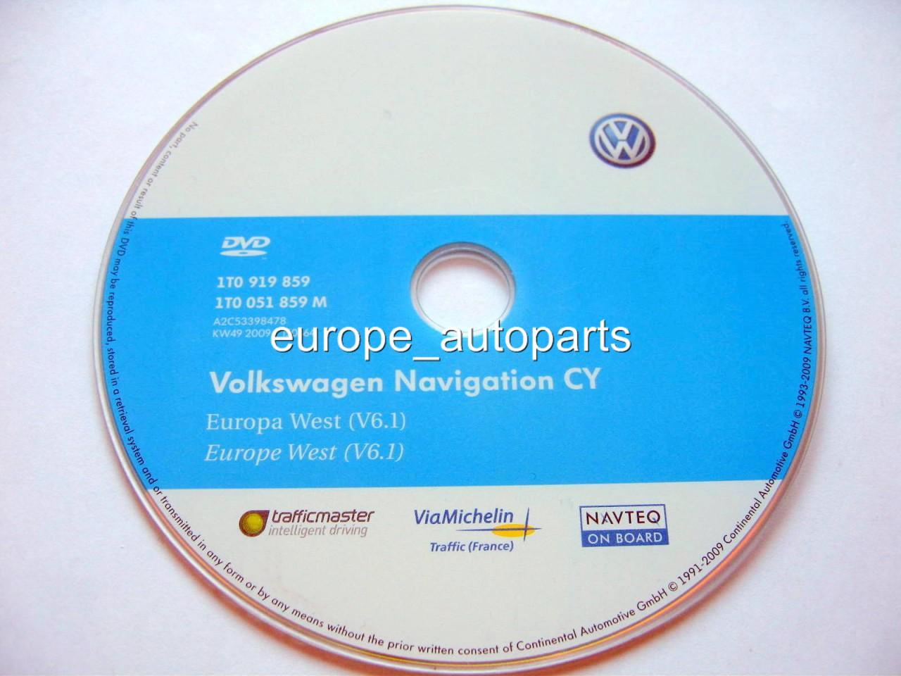 vw rns 510 810 navi dvd 2010 2011 v6 1 west europa. Black Bedroom Furniture Sets. Home Design Ideas