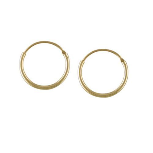 9ct Yellow Gold Hoop Earrings Top Hinged Sleeper Various