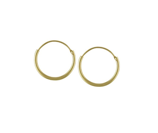 9ct Yellow Gold Hoop Earrings Top Hinged Sleeper Various