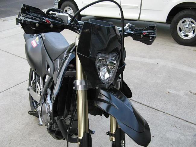 Black Universal Motorcycle Headlights Headlamp Light Streetfighter Fairing | eBay