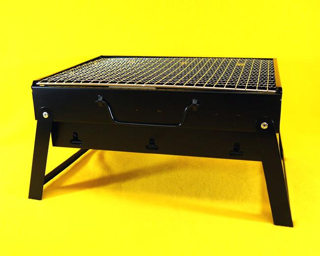 mini stainless charcoal bbq grill folding barbecue grilling extended black new. Black Bedroom Furniture Sets. Home Design Ideas